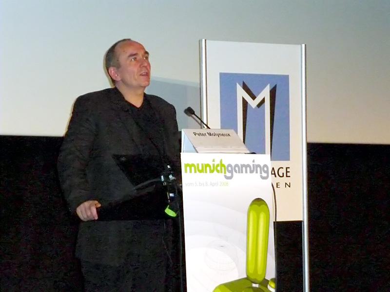 Beckstein und Molyneux eröffnen Munich Gaming - Peter Molyneux