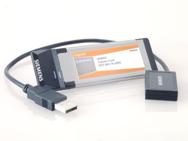 WiMAX-Express-Karte von Siemens mit bis zu 20 MBit/s - Express-Karte Gigaset SE68 WiMAX von Siemens