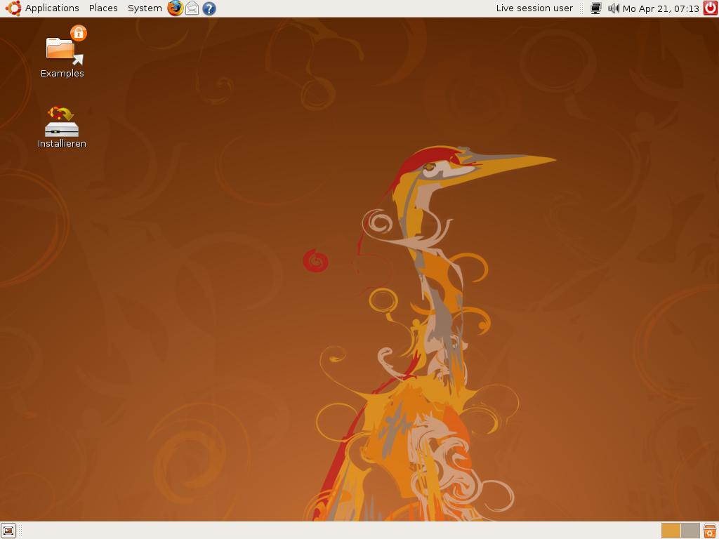 Ubuntu 8.04 als Release Candidate verfügbar - Ubuntu 8.04 mit Gnome 2.22