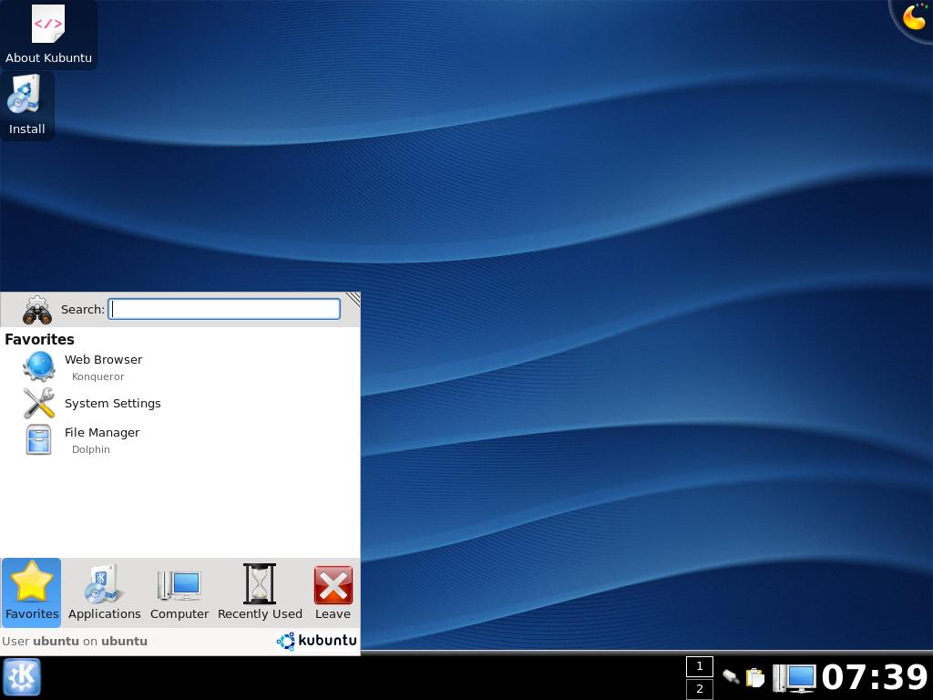Ubuntu 8.04 als Release Candidate verfügbar - Kubuntu 8.04 mit KDE 4.0.3