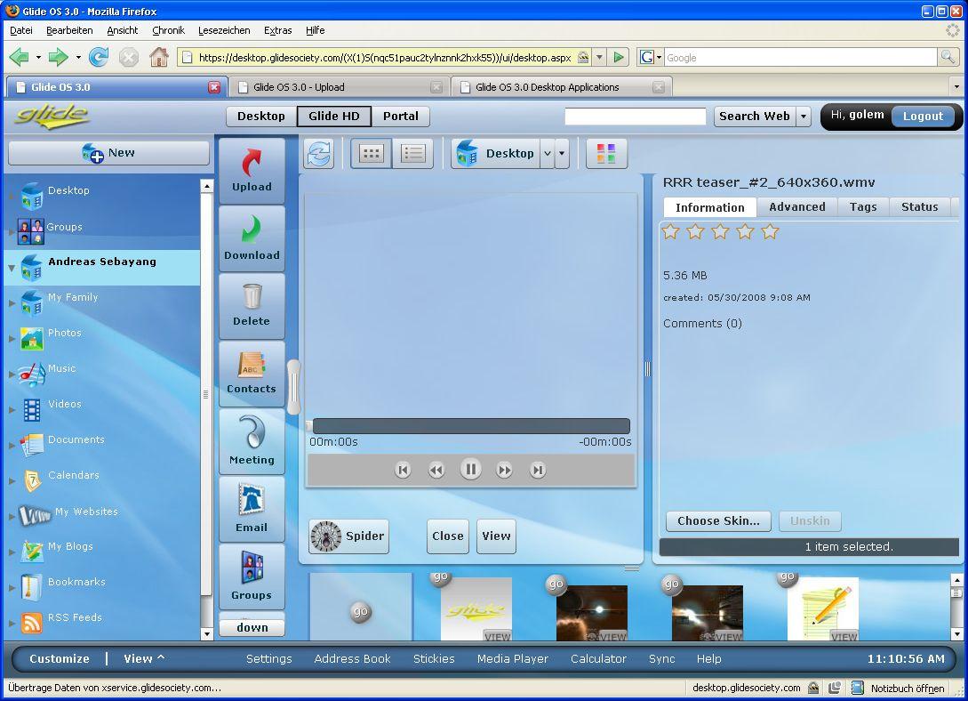 Glide OS - ein Desktop auf allen Geräten - Video will anfangs nicht abspielen