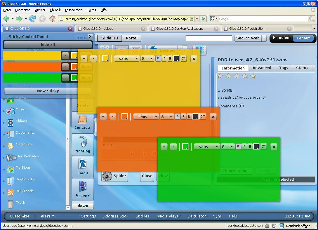 Glide OS - ein Desktop auf allen Geräten -