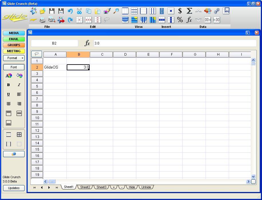 Glide OS - ein Desktop auf allen Geräten - Glide Crunch unter Windows