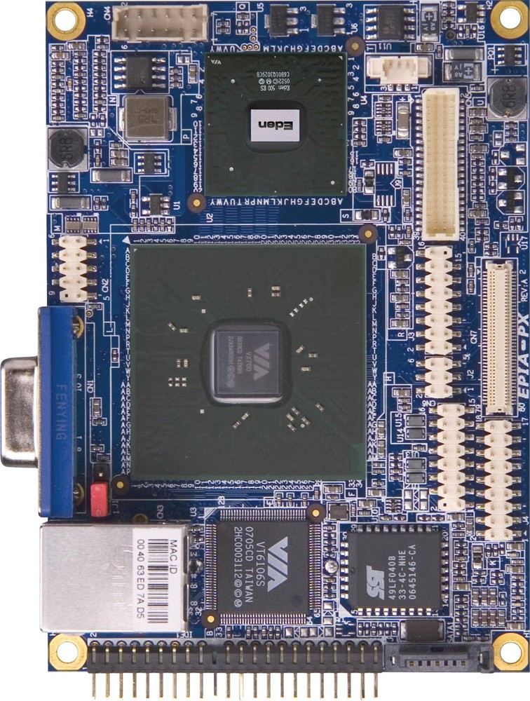 VIA bietet 1-Watt-x86-CPU auf kleinstem Mainboard - VIA EPIA PX5000EG - Pico-ITX-Mainboard