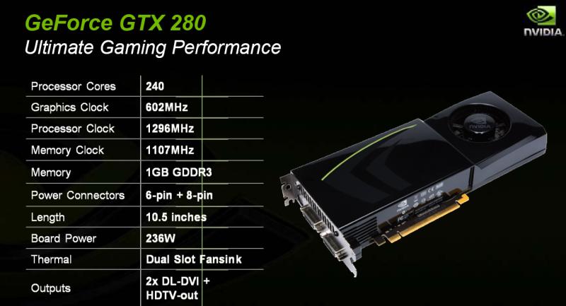 Nvidias GTX-280 und 260: Größte GPUs aller Zeiten