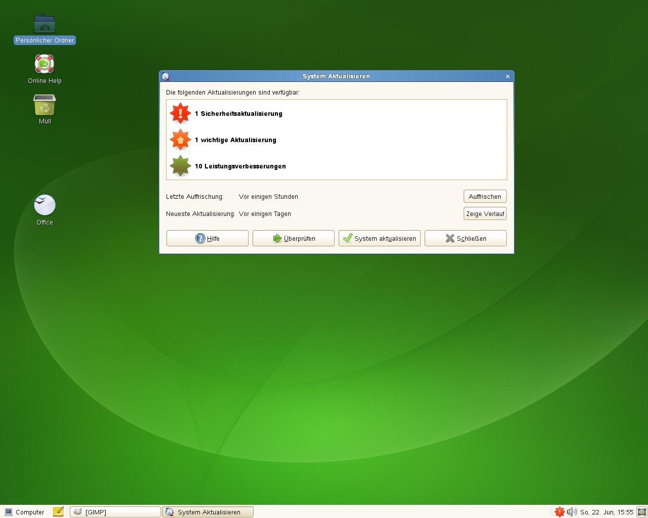 Test: OpenSuse 11.0 mit KDE 4 - Softwareupdates