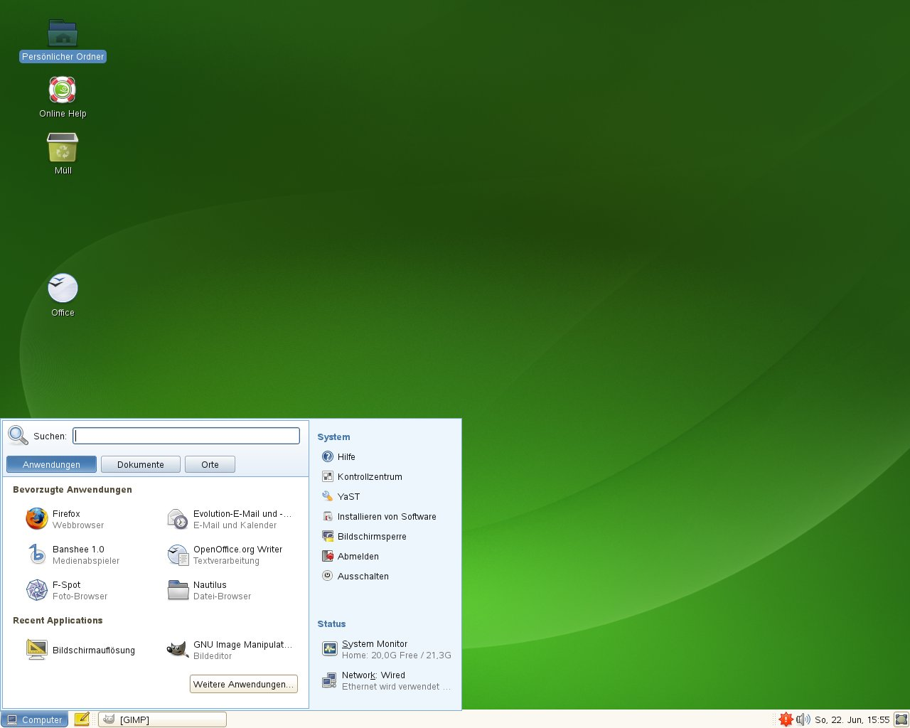 Test: OpenSuse 11.0 mit KDE 4 -