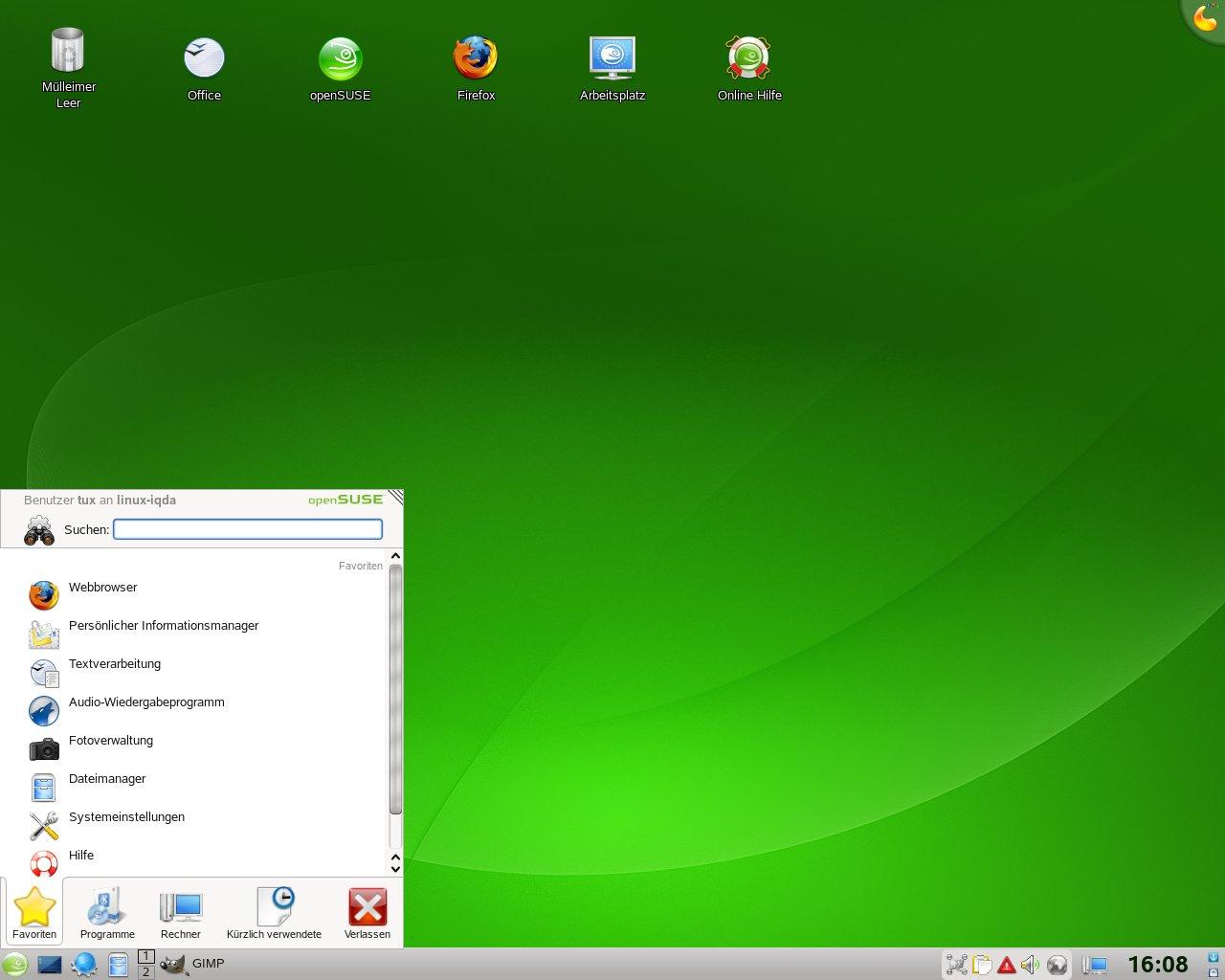 Test: OpenSuse 11.0 mit KDE 4 - KDE 4.0