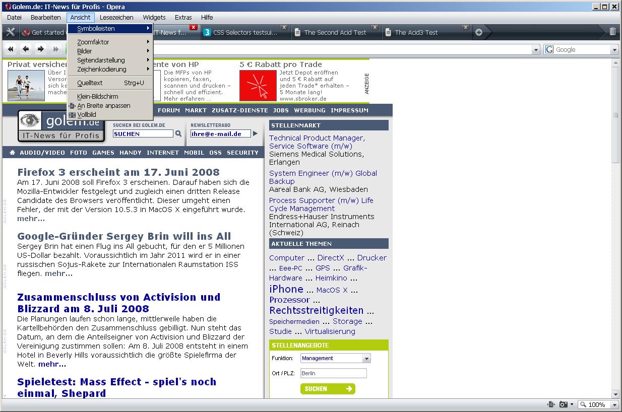 Opera 9.5 ist fertig - Opera 9.5