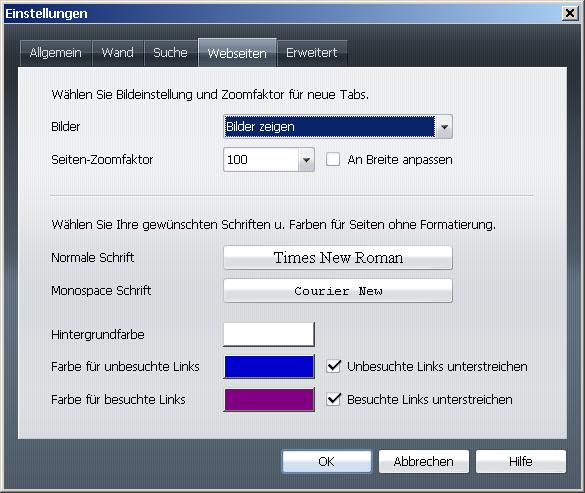 Opera 9.5 ist fertig - Opera 9.5 -  Einstellungen