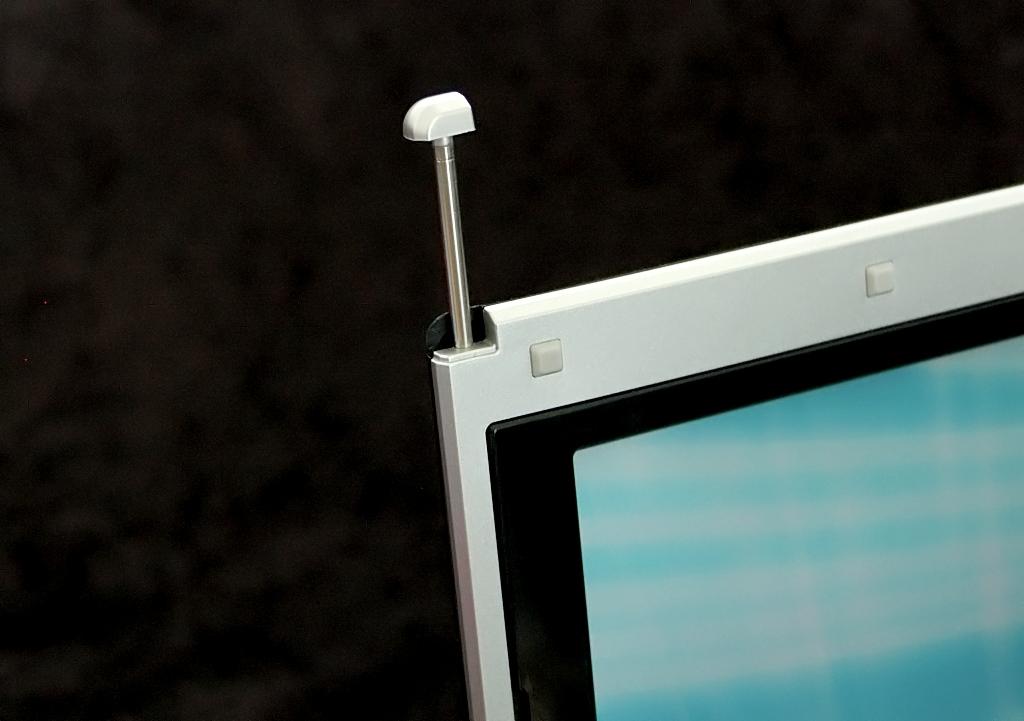 Test: Gigabyte M912 - das erste Netbook als Tablet-PC (Upd) - Oben links versteckt sich der Stift