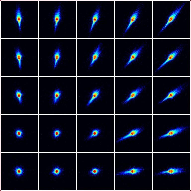 Schweizer Wissenschaftler bauen Supermikroskop - Beugungsbild: Aus mehreren zehntausend dieser Bilder wird eine einziges, super hoch auflosendes generiert