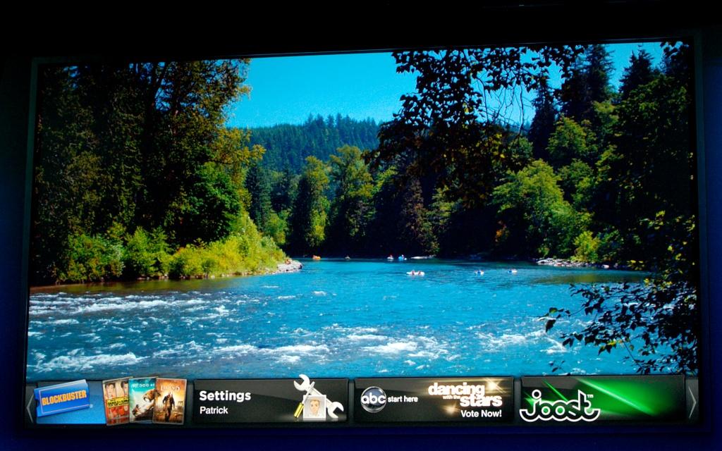 Adobes Flash kommt ins Fernsehen - Oben Fernsehen unten Widgets