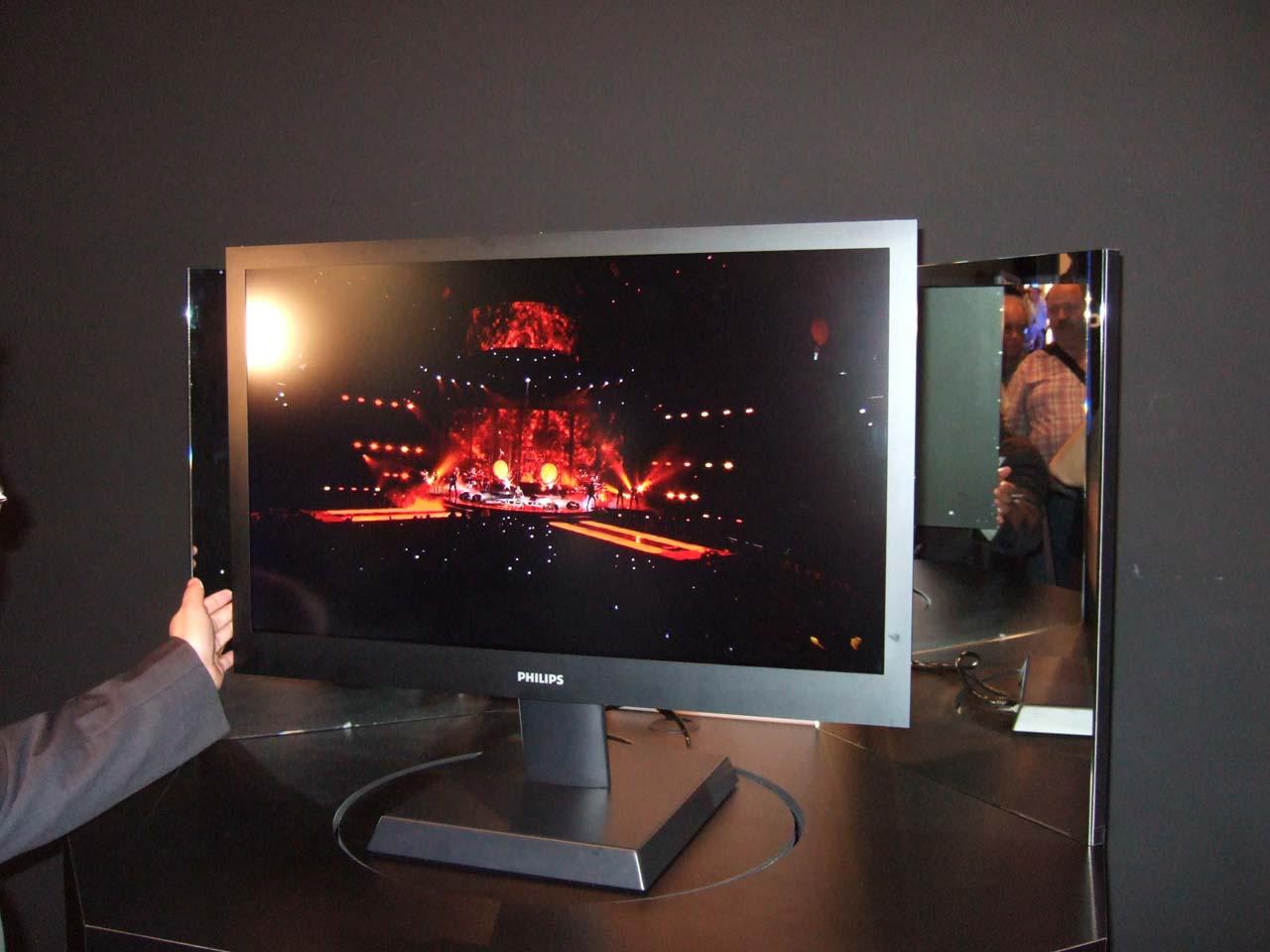 Philips zeigt 8 mm dünnen LCD-Fernseher - Philips' 8-mm-Fernseher-Prototyp von der IFA 2008
