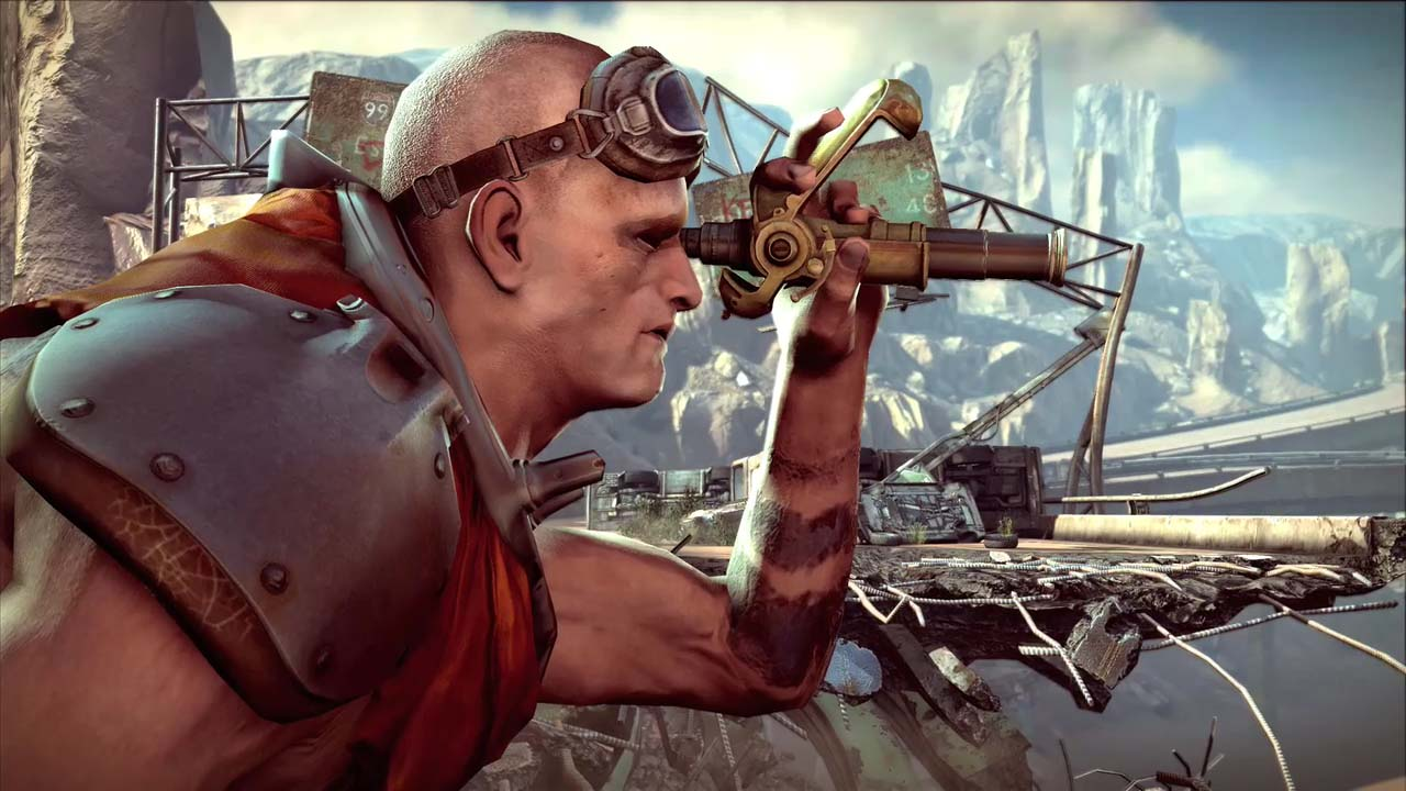 Mad Max lässt grüßen: Spielgrafikvideo von Rage - Rage - Bilder aus dem Ingame-Teaser-Trailer von der QuakeCon 2008