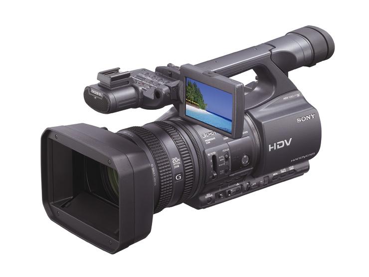 Sony bleibt dem DV-Band treu: Neue Oberklasse-HDV-Kameras - HDR-FX1000