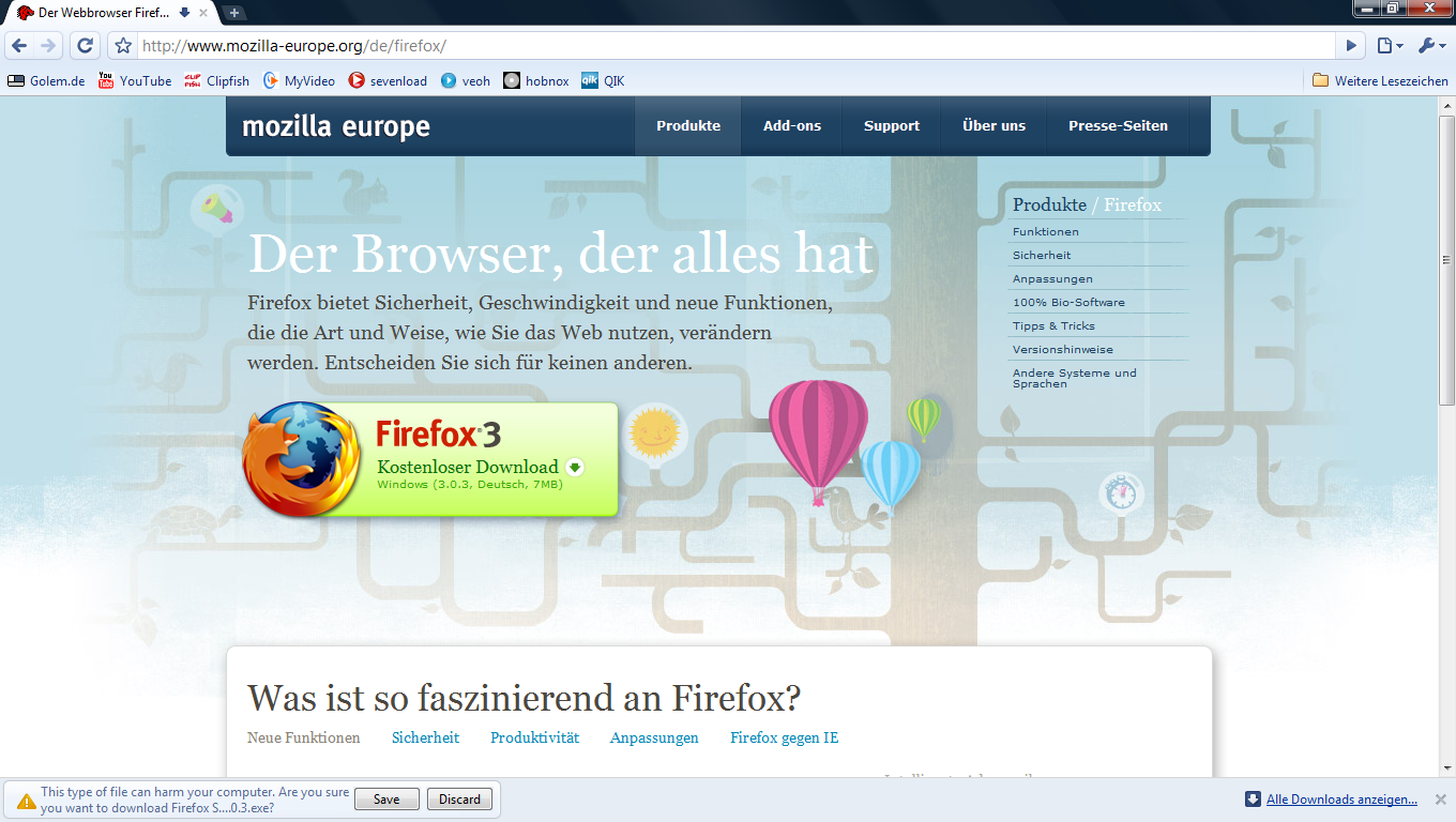 Chrome - neue Beta des Google-Browsers - Google Chrome 0.3.154.3