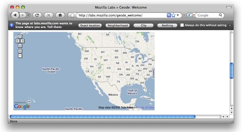 Geode - Firefox weiß, wo der Nutzer ist