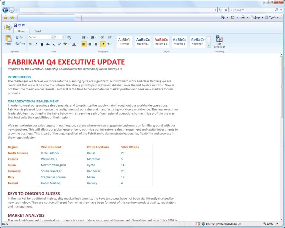 Microsoft Office kommt in den Browser - Word als Office Web Applikation