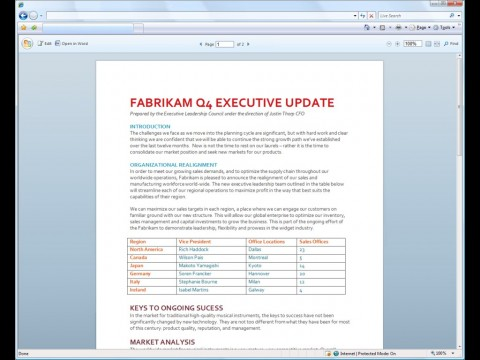 Word als Office Web Applikation