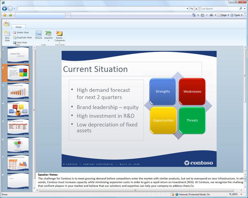 Microsoft Office kommt in den Browser - PowerPoint als Office Web Applikation