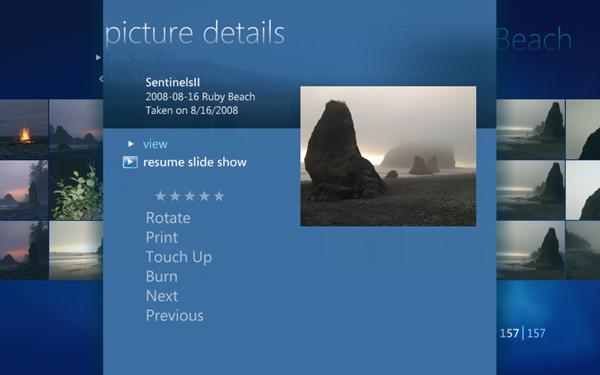 Windows 7 und seine Media-Center-Funktionen - Windows Media Center von Windows 7 - Foto-Details