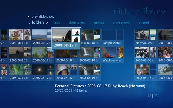 Windows 7 und seine Media-Center-Funktionen - Windows Media Center von Windows 7 - Fotobibliothek