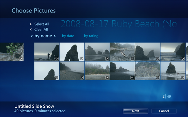 Windows 7 und seine Media-Center-Funktionen - Windows Media Center von Windows 7 - Slideshow Creator
