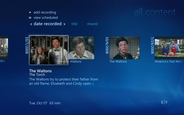 Windows 7 und seine Media-Center-Funktionen - Windows Media Center von Windows 7 - TV-Aufzeichungsarchiv