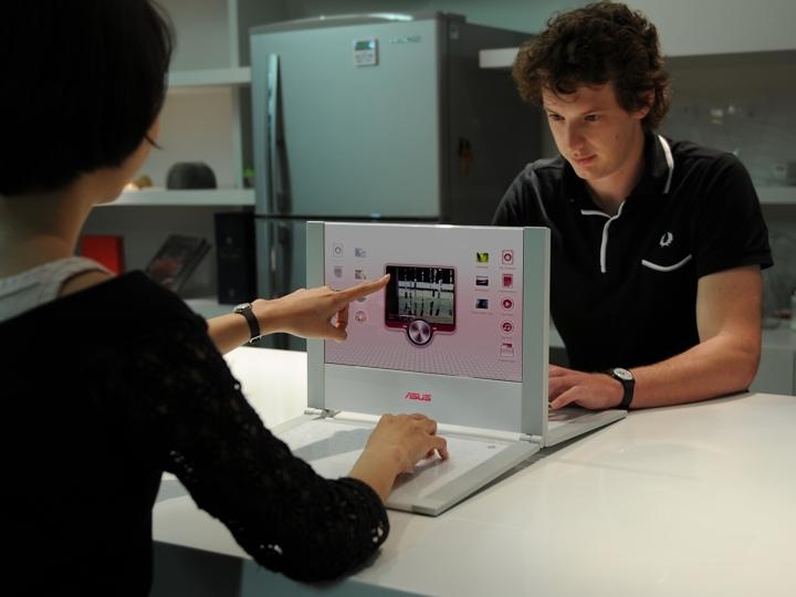 CES: Asus zeigt Tastatur-PC und Eee-PCs mit Touchscreen (U) - Design-Studie eines Schulrechners
