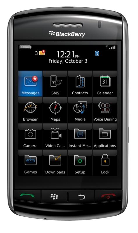 Test: Blackberry Storm hat den Touchscreen mit Klick - Blackberry Storm
