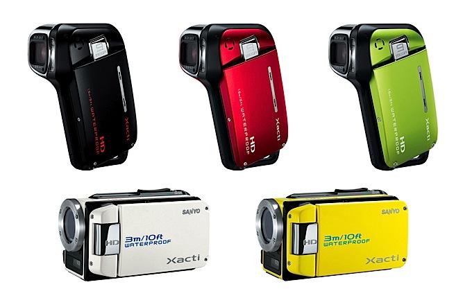 Wasserfeste Camcorder von Sanyo - Sanyo DMX-CA9 und DMX-WH1