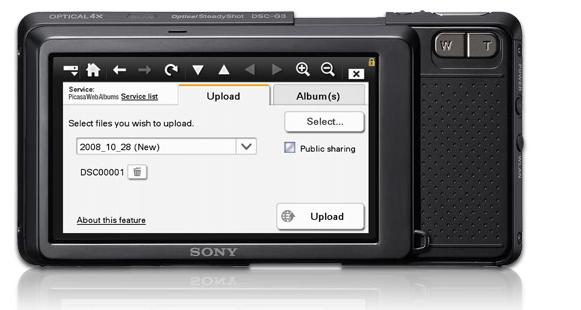 Digitalkamera mit eingebautem Browser - Sony Cyber-shot DSC-G3