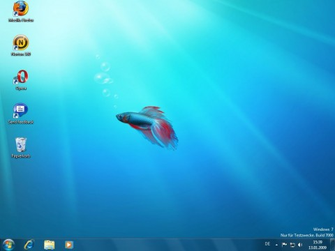 Windows 7 Beta - Desktop