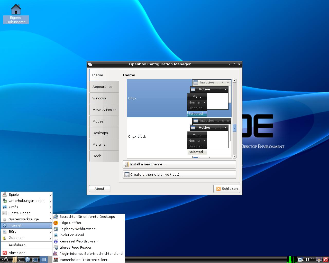 Debian 5.0: Ein erster Blick auf Lenny - LXDE mit Openbox-Konfiguration