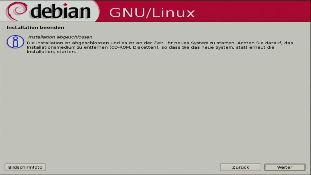 Debian 5.0: Ein erster Blick auf Lenny - Abschluss der Installation