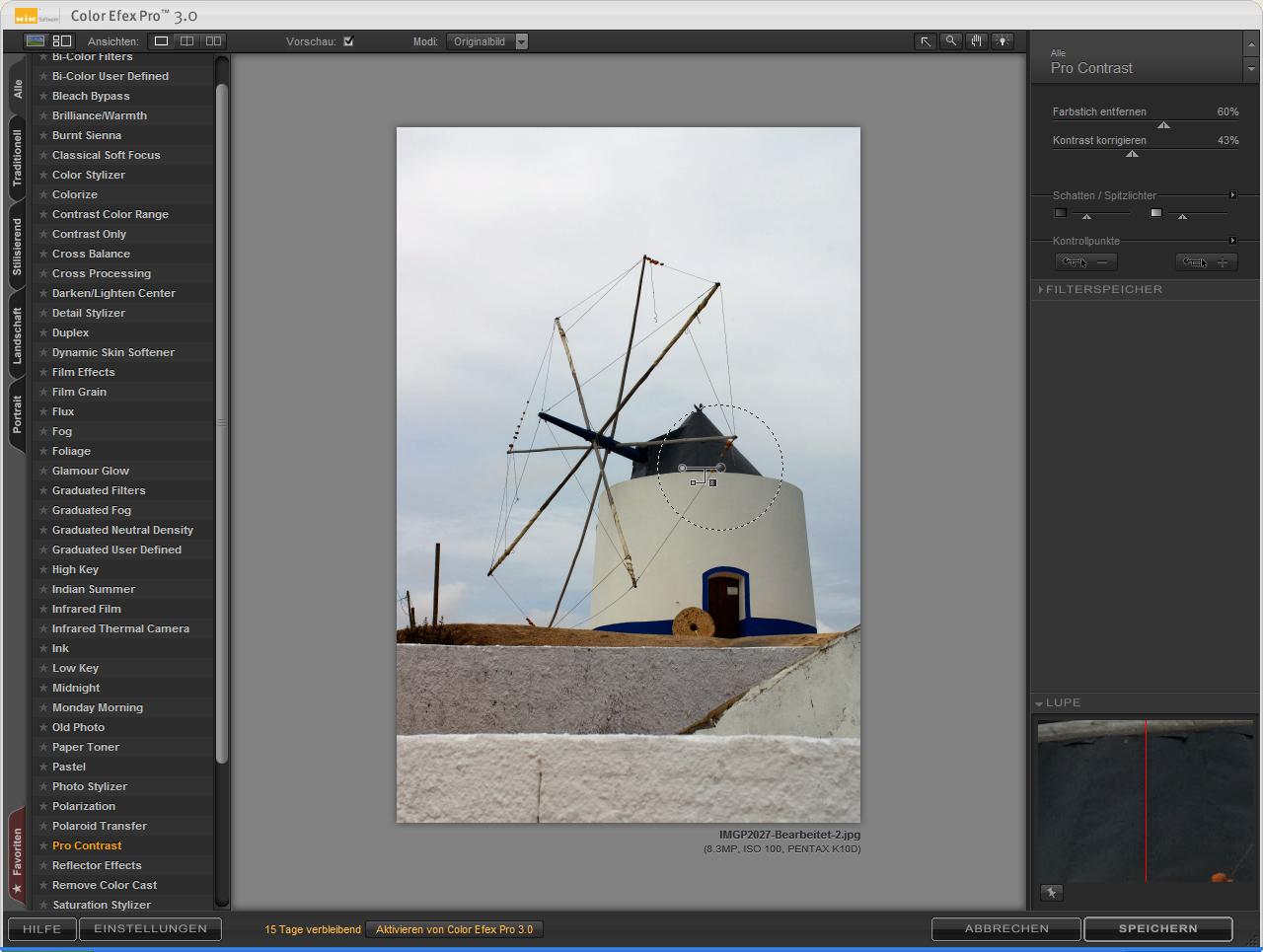 Fotos partiell umfärben ohne Masken - Nik Software Color Efex Pro (Foto: Andreas Donath)