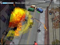 Spieletest: GTA Chinatown Wars - Hosentaschengangster - Angriff auf Laden.