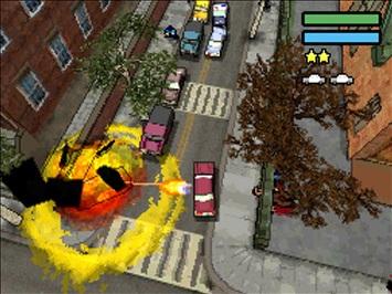 Spieletest: GTA Chinatown Wars - Hosentaschengangster - Ein Driveby-Shooting stiftet Chaos.