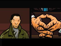 Spieletest: GTA Chinatown Wars - Hosentaschengangster - Eine der Zwischensequenzen im Comicstil.