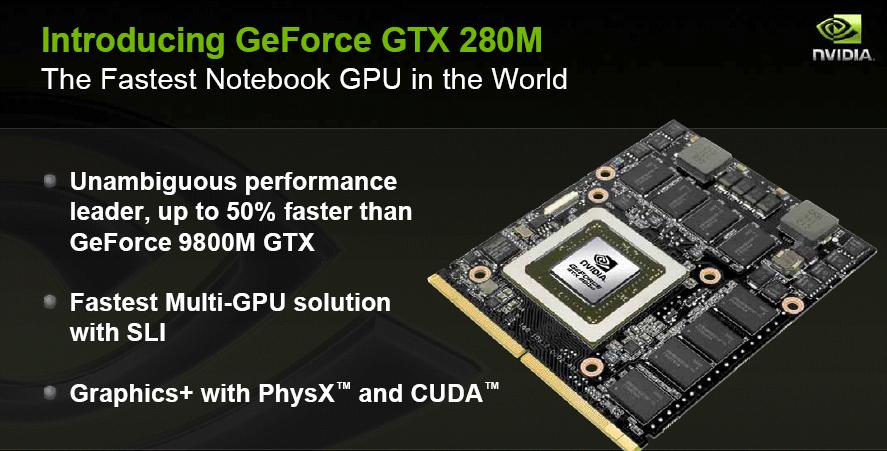 Nvidia kündigt Geforce GTS-250 und GTX-280M an - GTX-280M-Modul