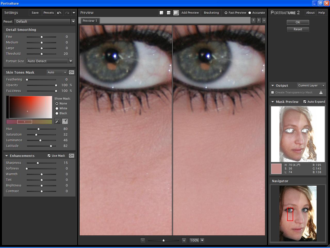 Gesichtsretusche für Apple Aperture