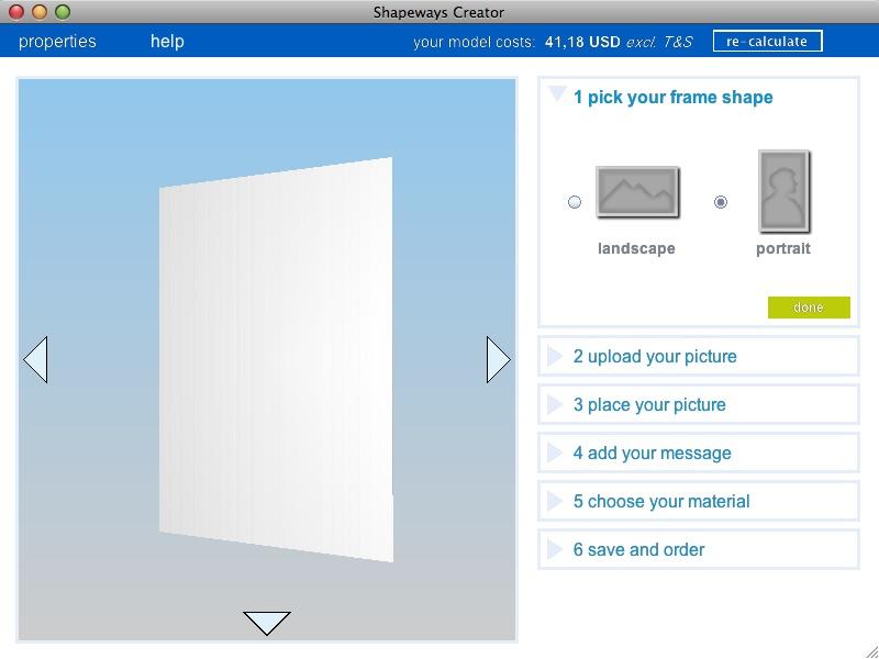 3D-Fotos aus der Rapid-Prototyping-Maschine