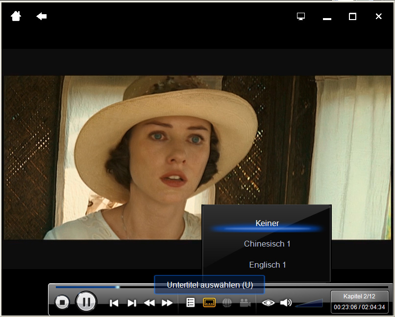 PowerDVD 9 skaliert DVDs und unterstützt bald CUDA - PowerDVD 9 - Untertitel im Cinema-Modus