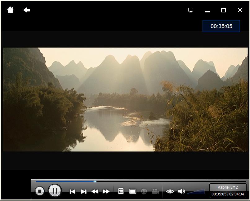 PowerDVD 9 skaliert DVDs und unterstützt bald CUDA - PowerDVD 9 - Wiedergabe im Cinema-Modus