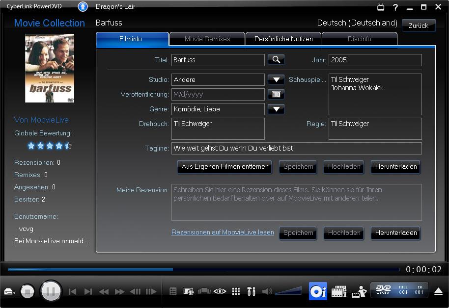 PowerDVD 9 skaliert DVDs und unterstützt bald CUDA - PowerDVD 9 - Filmdetails