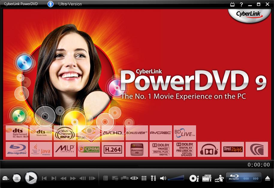PowerDVD 9 skaliert DVDs und unterstützt bald CUDA - PowerDVD 9 - Startbildschirm