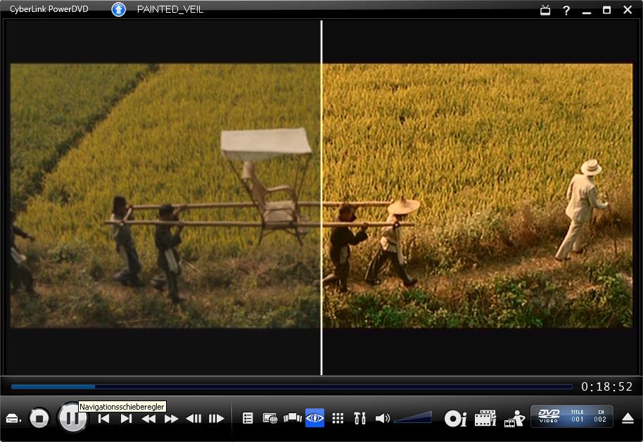 PowerDVD 9 skaliert DVDs und unterstützt bald CUDA - PowerDVD 9 - TrueTheater HD in Aktion