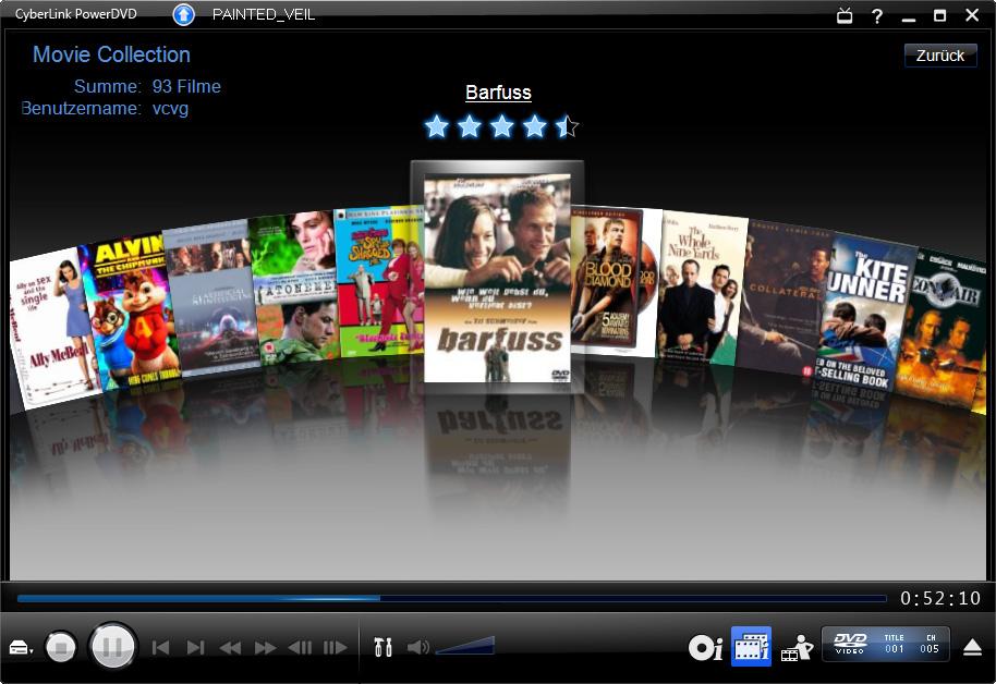PowerDVD 9 skaliert DVDs und unterstützt bald CUDA - PowerDVD 9 - Filmsammlung in der FancyView