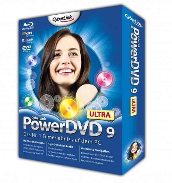 PowerDVD 9 skaliert DVDs und unterstützt bald CUDA - PowerDVD 9 Ultra - Packung der Retail-Version